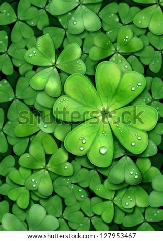 Clover background for St. Patrick`s day. For luck.