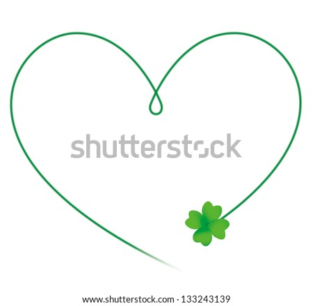 clover heart - stock photo