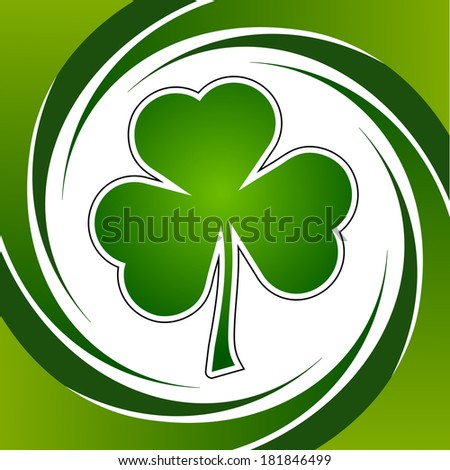 Clover leaf element background for happy St. Patricks Day - stock photo