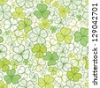 Clover line art seamless pattern background raster - stock vector