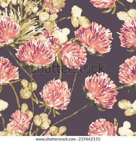 Clover seamless pattern - stock photo