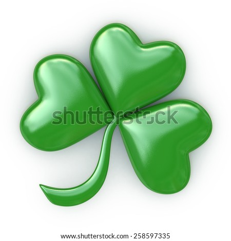 Clover with three leafs - Patrick's day - stock photo