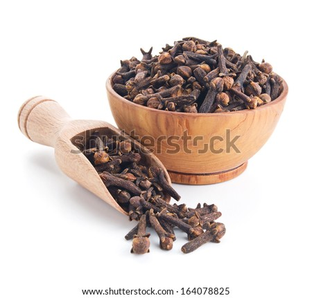 cloves isolated on white background - stock photo