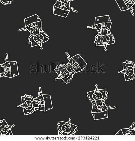 clown box doodle seamless pattern background - stock photo