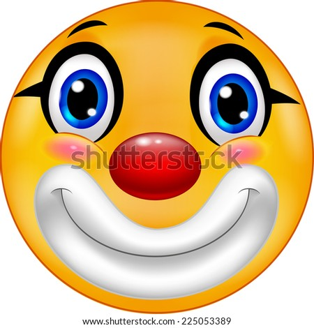 Clown emoticon  - stock photo
