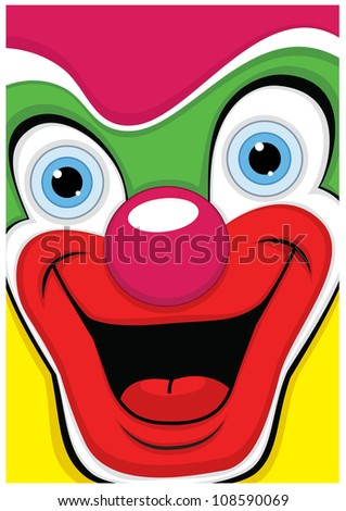 Clown illustration - stock photo