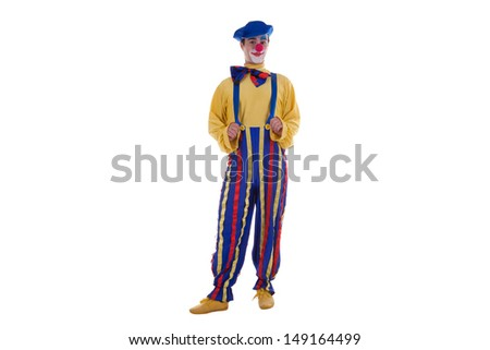 Clown isolated on white background studio shot