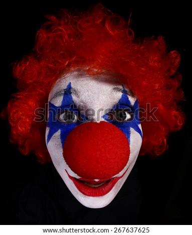 Clown makeup  - stock photo