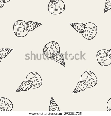 clown toy doodle seamless pattern background - stock photo