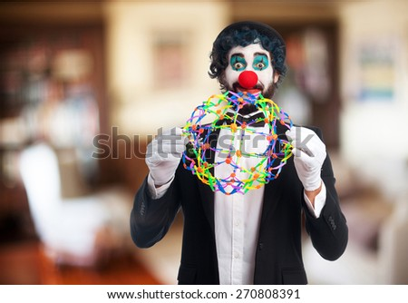 clown with enjoying - stock photo