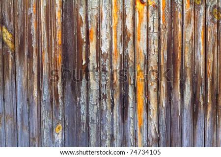 Clsoe up of old wooden barn door texture - stock photo