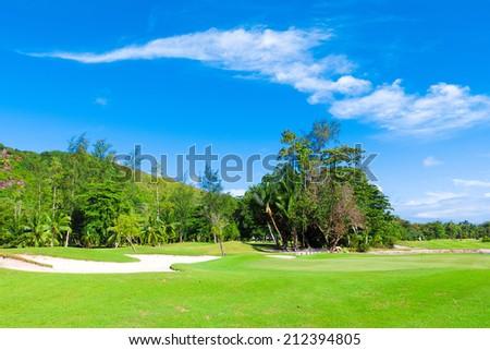 Club Landscape Fields  - stock photo