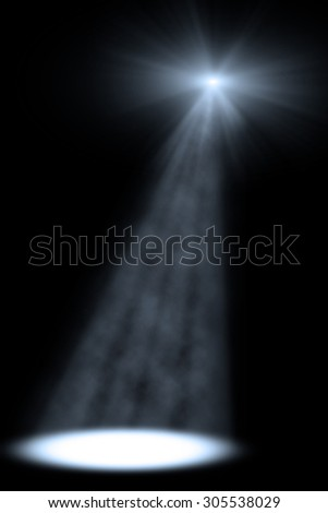 Club stage single spotlight template. - stock photo