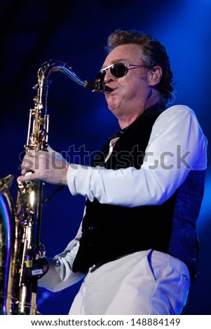 CLUJ NAPOCA, ROMANIA - JUNE 8: The famous UB40 performs on stage during the Cluj Arena Music Fest 2013, on June 8, 2013 in Cluj Napoca, Romania.