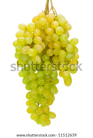 Cluster of a grapes on a white isolated background - stock photo