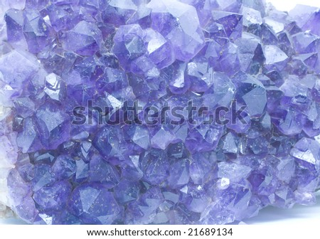 Cluster of Amethyst - stock photo