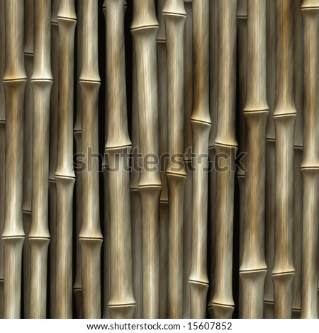 cluster of bamboo plants - abstract art - stock photo