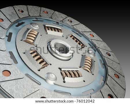 clutch disc - stock photo
