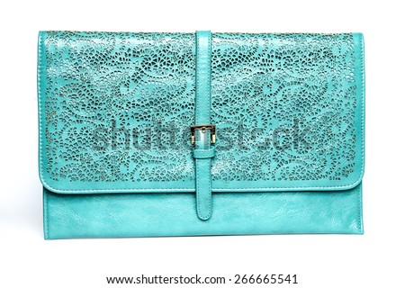 Clutch folder with ornament - stock photo