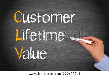 CLV - Customer Lifetime Value - stock photo