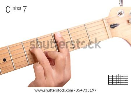 Cm 7 Minor Seventh Keys Guitar Tutorial Stock Photo & Image (Royalty ...