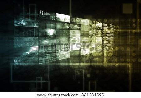 CMS Technology - stock photo