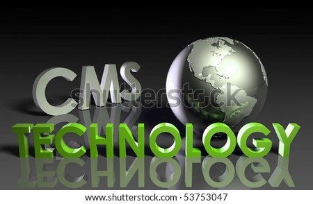 CMS Technology Internet Abstract as a Concept - stock photo
