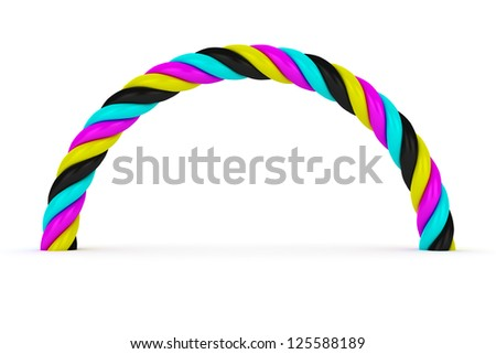CMYK arch on the white background - stock photo