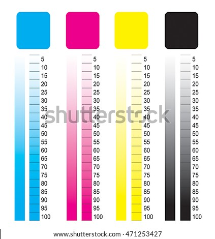 Cmyk Color Chart Stock Illustration 471253427 - Shutterstock