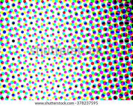 CMYK color halftone dots