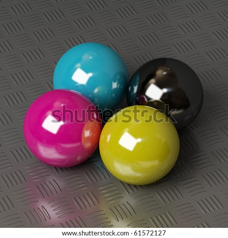 CMYK ink colors for print - stock photo