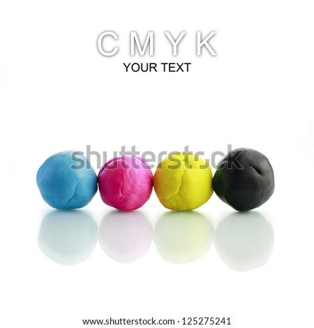 CMYK Plasticine - stock photo