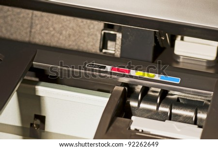 CMYK printer - stock photo