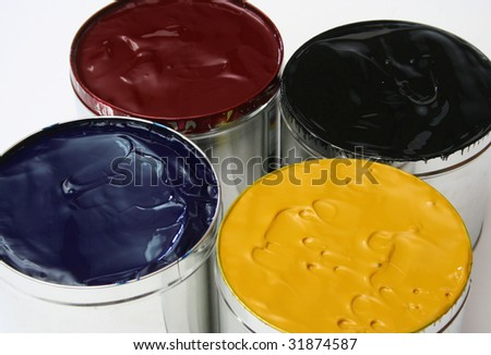 CMYK Printing Ink - stock photo
