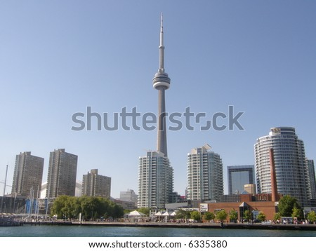 CN Tower & Toronto Skyline, Canada - stock photo
