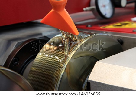 CNC Machine for threading with great speed - stock photo