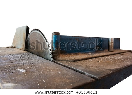 Cnc metal cut machine isolated on white (have clipping path) - stock photo