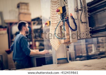 CNC operator - stock photo