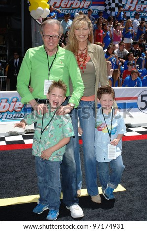 CNN talk show host LARRY KING & family at the the world premiere, on Hollywood Boulevard, of Walt Disney Pictures' Herbie: Fully Loaded. June 19, 2005 Los Angeles, CA  2005 Paul Smith / Featureflash - stock photo