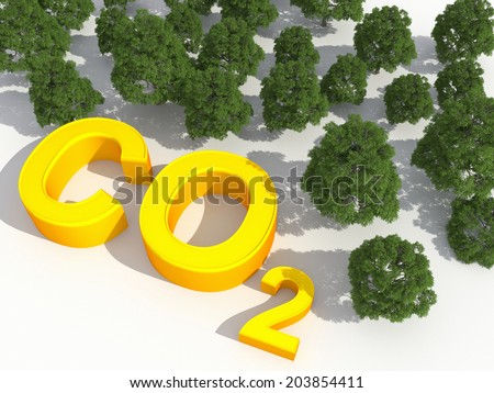 co2 and environmental greenhouse gases concept - stock photo