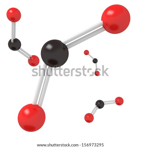 CO2 Carbon Dioxide molecule - stock photo