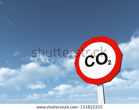 CO2 Computer generated 3D illustration - stock photo