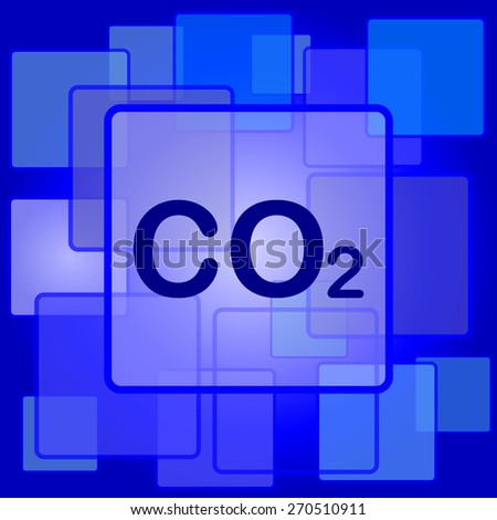 CO2 icon. Internet button on abstract background.  - stock photo