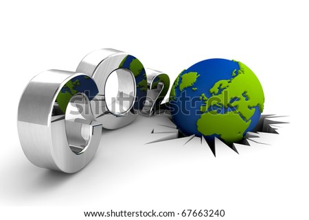 CO2 pollution. Excessive emission. The world needs ecology. - stock photo