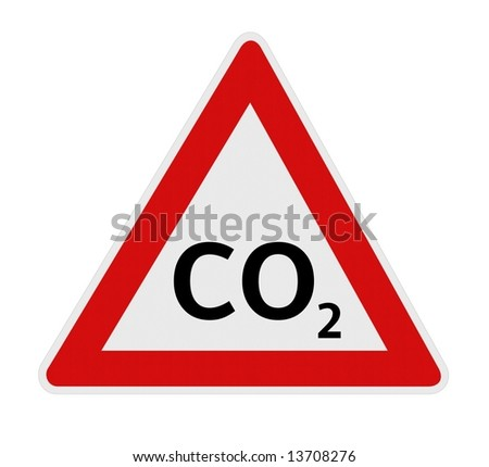 CO2 warning sign - stock photo