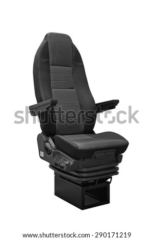 Coach seat isolated on white background - three quart front view - stock photo