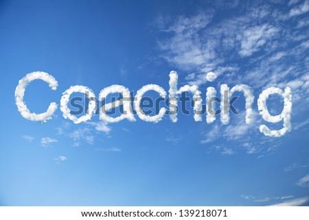 Coaching cloud word - stock photo