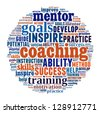 Coaching concept in word collage - stock photo