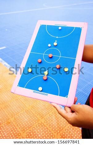 Coaching football. - stock photo