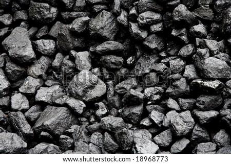 Coal background - stock photo